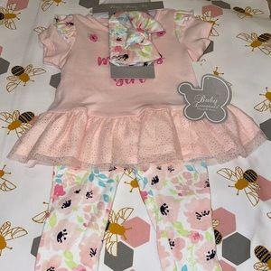 Baby Essentials Floral Girl Matching Set!